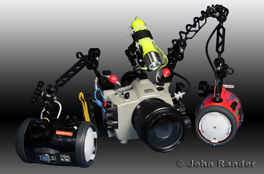 Macro-photography setup used for the first dives at Lembeh Strait